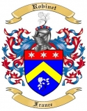 Robinet Family Crest from France