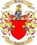 Robins Family Crest from England