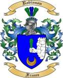 Robinson Family Crest from France