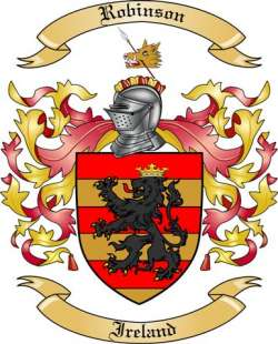 Robinson Family Crest From Ireland By The Tree Maker