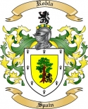 Robla Family Crest from Spain