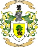 Robles Family Crest from Spain