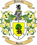Robredo Family Crest from Spain
