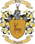 Roby Family Crest from England