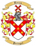 Rocas Family Crest from Portugal