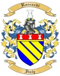 Roccardi Family Crest from Italy