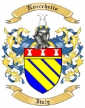 Roccchetto Family Crest from Italy