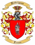 Rodriguez Family Coat of Arms from France
