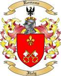Romano Family Coat of Arms from Italy