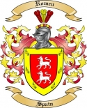 Romeu Family Crest from Spain