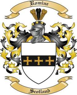Romine Family Coat of Arms from Scotland