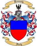 Rossety Family Crest from Italy