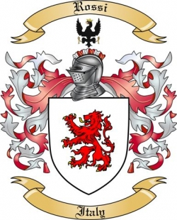 Rossi Family Coat of Arms from Italy