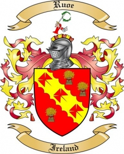 Ruoe Family Coat of Arms from Ireland