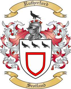 Rutherford Family Crest from Scotland by The Tree Maker