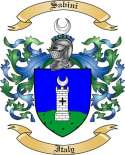 Sabini Family Crest from Italy