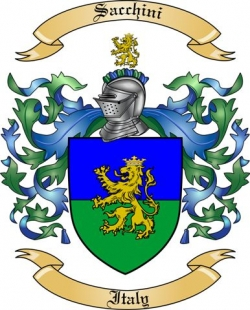 Sacchini Family Crest from Italy
