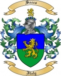 Sacco Family Coat of Arms from Italy