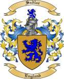 Sadlar Family Coat of Arms from England