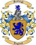 Sadleigh Family Coat of Arms from England
