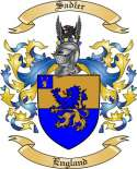 Sadler Family Coat of Arms from England