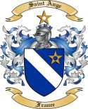 Saint Ange Family Coat of Arms from France