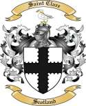 Saint Clare Family Crest from Scotland