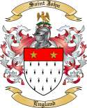 Saint John Family Coat of Arms from England