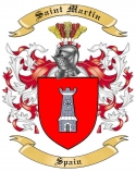 Saint Martin Family Coat of Arms from Spain