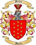 Salaz Family Crest from Spain