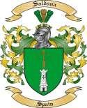 Saldana Family Crest from Spain