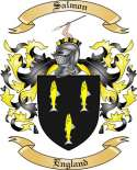 Salmon Family Coat of Arms from England