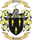 Salmon Family Crest from Scotland