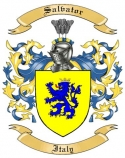 Salvator Family Crest from Italy