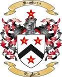 Samborn Family Coat of Arms from England