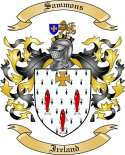 Sammons Family Crest from Ireland
