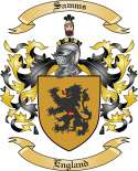 Samms Family Coat of Arms from England