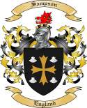 Sampson Family Coat of Arms from England