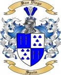 San Diego Family Crest from Spain