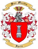 San Martin Family Coat of Arms from Spain