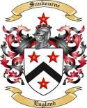 Sanbourne Family Crest from England