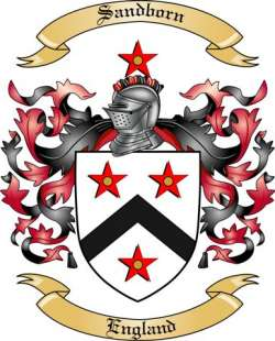 Sandborn Family Crest from England