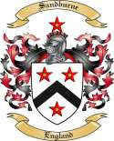 Sandburne Family Coat of Arms from England