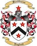Sandburne Family Crest from England