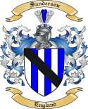 Sanderson Family Crest from England