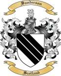 Sanderson Family Crest from Scotland