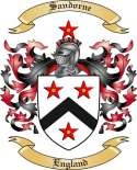 Sandorne Family Coat of Arms from England