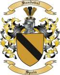 Sandoval Family Crest from Spain
