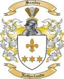 Sandre Family Crest from Netherlands