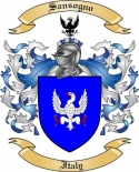 Sansogno Family Crest from Italy